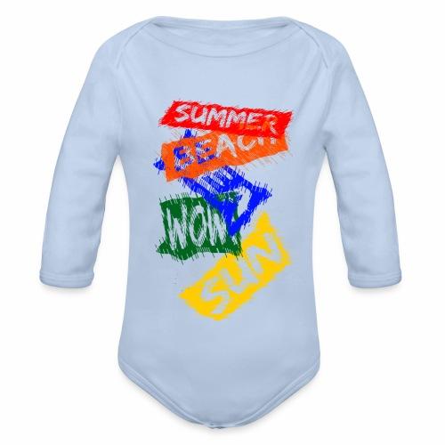 SUMMER - Body Bébé bio manches longues