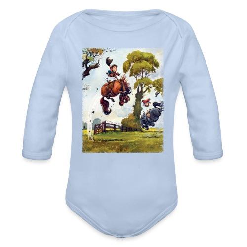 PonyRodeo Thelwell Cartoon - Organic Longsleeve Baby Bodysuit