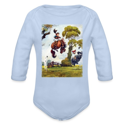 Thelwell Cartoon Pony Rodeo - Baby Bio-Langarm-Body