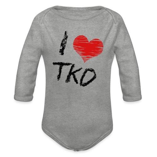 I love tkd letras negras - Body orgánico de manga larga para bebé
