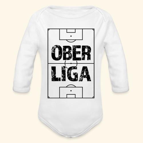OBERLIGA im Fußballfeld - Baby Bio-Langarm-Body