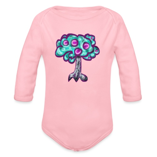Neon Tree - Organic Longsleeve Baby Bodysuit