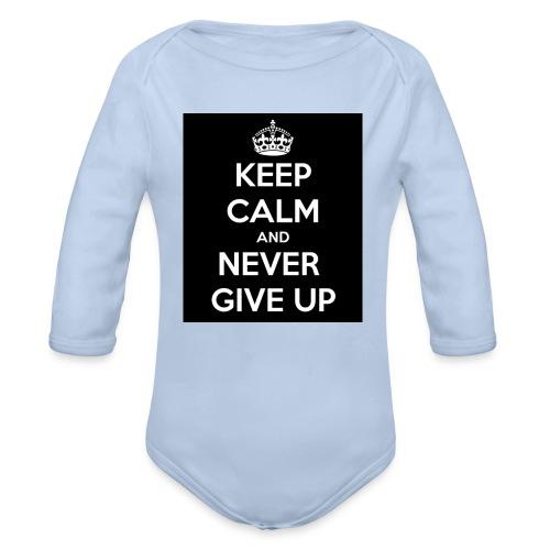 wpid-keep-calm-and-never-give-up-93 - Ekologisk långärmad babybody