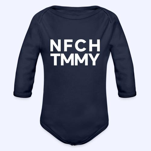Einfach Tommy / NFCHTMMY / White Font - Baby Bio-Langarm-Body