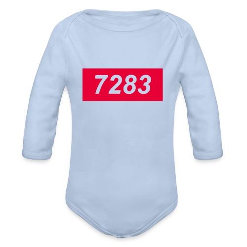 7283-transparent - Organic Longsleeve Baby Bodysuit