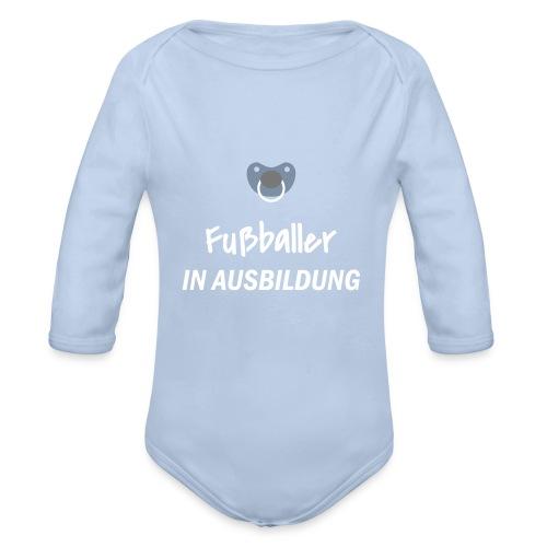 Fußballer in Ausbildung - Baby Bio-Langarm-Body