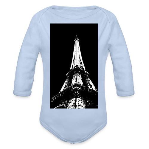 Eiffelturm - Baby Bio-Langarm-Body