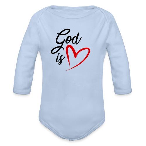 God is love 2N - Body ecologico per neonato a manica lunga