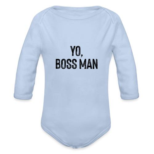 Yo BossMan - LDN Roads Collection - BLK - Organic Longsleeve Baby Bodysuit