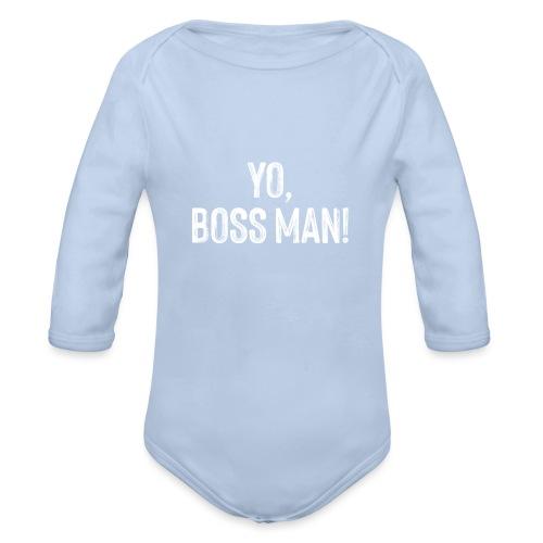 Yo BossMan - LDN Roads Collection - White! - Organic Longsleeve Baby Bodysuit