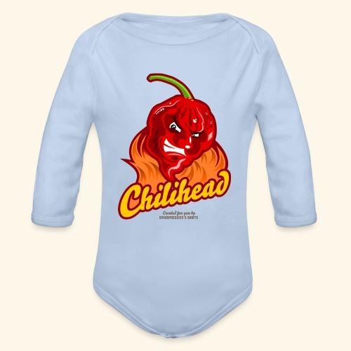Chili Design Cartoon Chilihead | Grill T-Shirts - Baby Bio-Langarm-Body