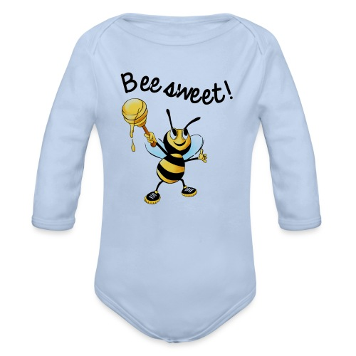 Bees7-2 Bienen sind süß | save the bees - Organic Longsleeve Baby Bodysuit