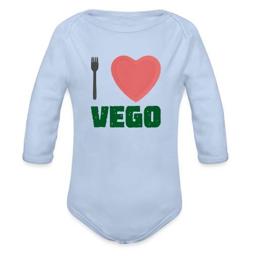 I love Vego - Clothes for vegetarians - Organic Longsleeve Baby Bodysuit