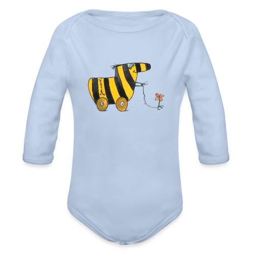 Janoschs Tigerente mit Blume - Baby Bio-Langarm-Body