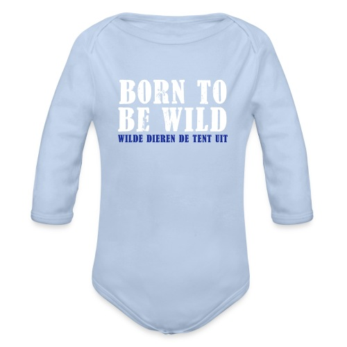 born to be wild - Baby bio-rompertje met lange mouwen