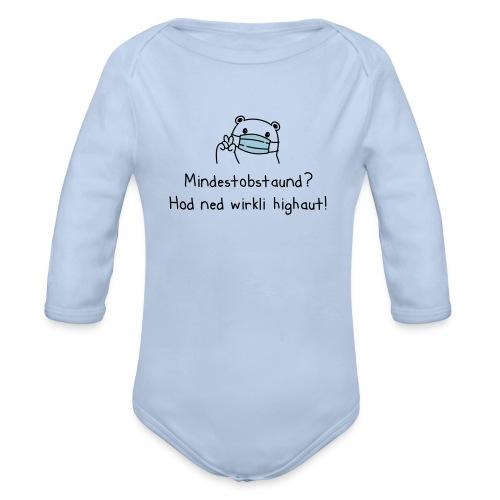 Vorschau: Mindestobstaund hod ned highaut - Baby Bio-Langarm-Body