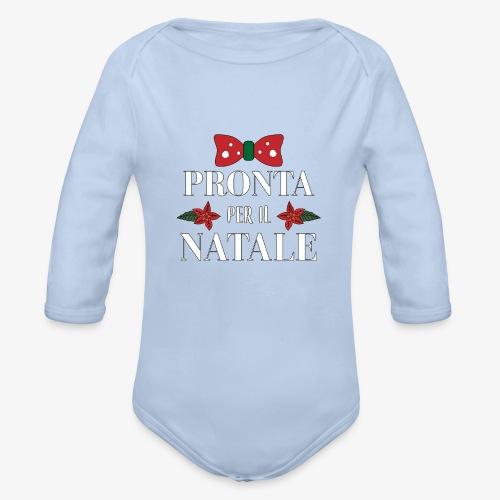 Il regalo di Natale perfetto - Body ecologico per neonato a manica lunga