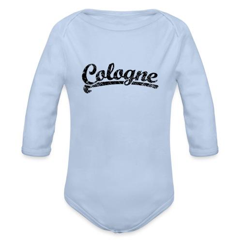 Cologne Classic Vintage Schwarz - Köln Design - Baby Bio-Langarm-Body