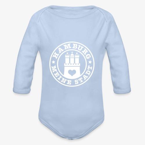 HAMBURG MEINE STADT Wappen 1c - Baby Bio-Langarm-Body