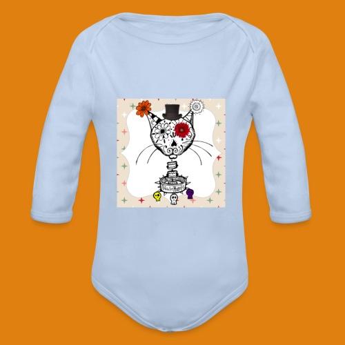 cat color - Organic Longsleeve Baby Bodysuit