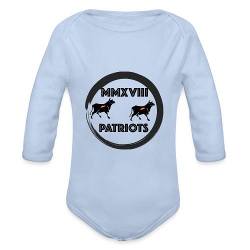 Patriots mmxviii - Body orgánico de manga larga para bebé