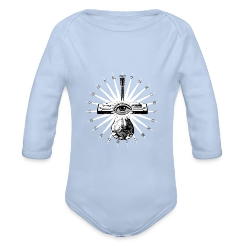 Blues Is The Truth - white star - Organic Longsleeve Baby Bodysuit