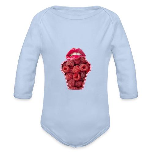 GESCHMACKSNERVEN pur bei Himbeeren - Baby Bio-Langarm-Body