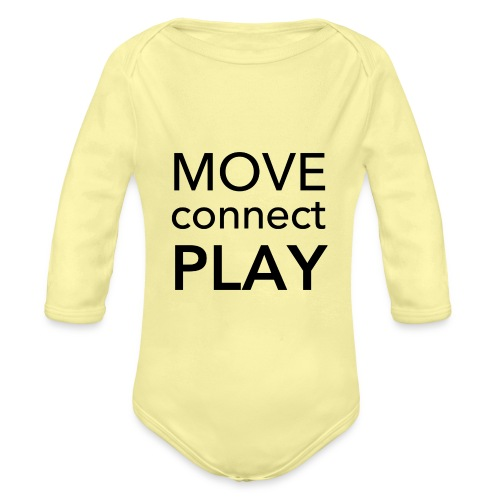 Move Connect Play - AcroYoga International - Organic Longsleeve Baby Bodysuit