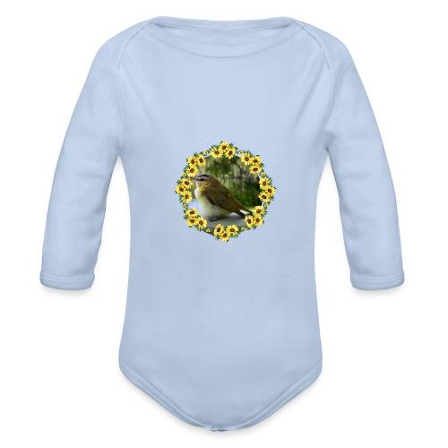 Vögelchen im Blumenkranz - Baby Bio-Langarm-Body
