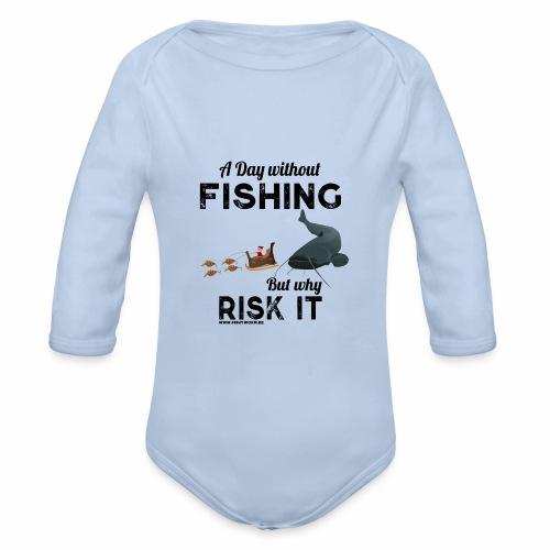 A Day Fishing Tag Angeln Weihnachten Wels Crank - Baby Bio-Langarm-Body