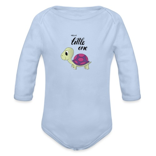 Little Turtle - Baby Bio-Langarm-Body