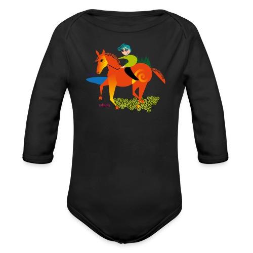 cheval dousig - Body Bébé bio manches longues