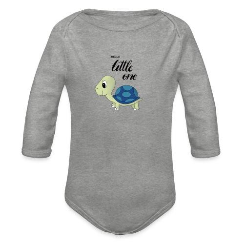 Little Turtle - Baby Bio-Langarm-Body