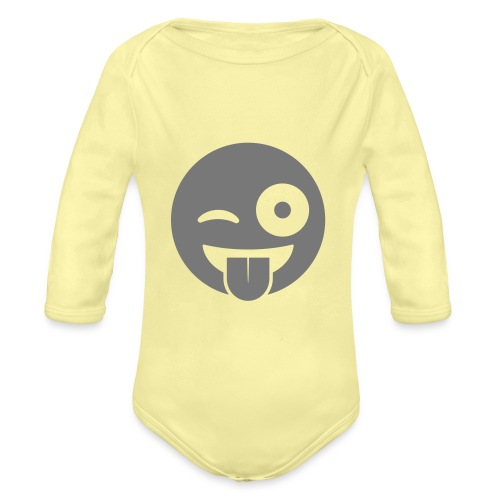 Emoji - Baby Bio-Langarm-Body