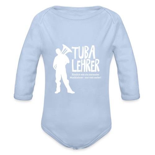 Tuba Lehrer | Tubist - Baby Bio-Langarm-Body
