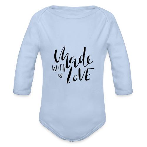 Made with Love - Baby Bio-Langarm-Body