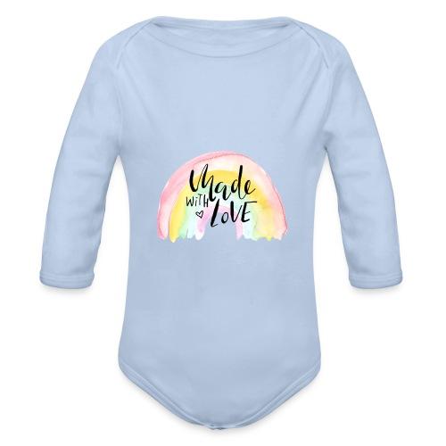 Made with Love Rainbow Baby - Baby Bio-Langarm-Body