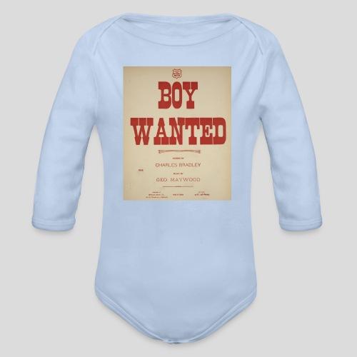 boy wanted1 1 jpg - Body Bébé bio manches longues