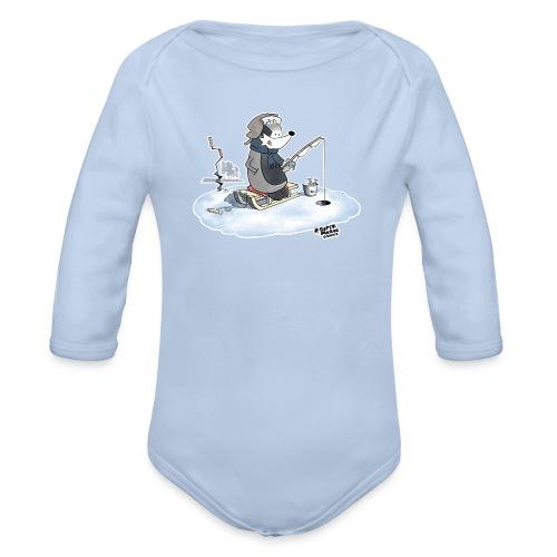 Ice Fishing Badger - Økologisk langermet baby-body