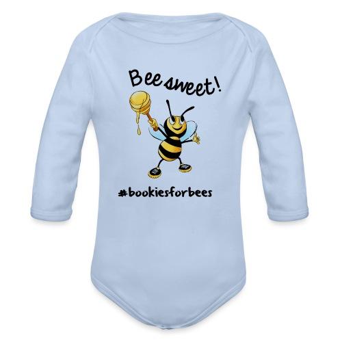 Bees7-1 Bienen sind süß | save the bees - Organic Longsleeve Baby Bodysuit