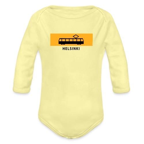 RATIKKA PYSÄKKI HELSINKI T-paidat ja lahjatuotteet - Vauvan pitkähihainen luomu-body