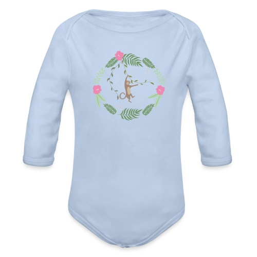 Mikey monkey - Body ecologico per neonato a manica lunga