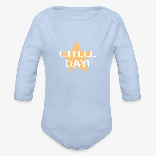CyBear Chill Day Pillow - Organic Longsleeve Baby Bodysuit