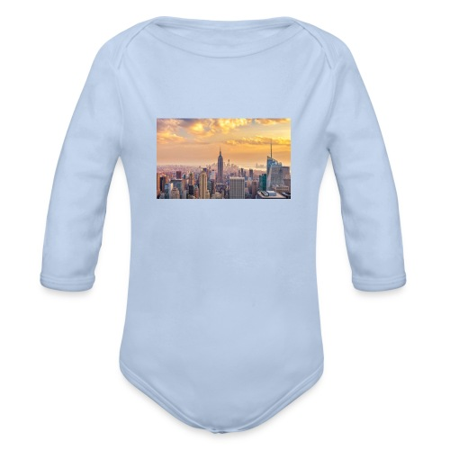 new york mok - Baby bio-rompertje met lange mouwen
