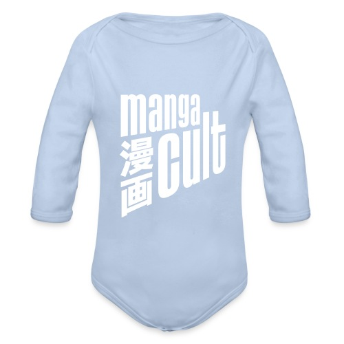 Manga Cult Logo Weiß - Baby Bio-Langarm-Body
