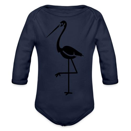 Flamingo - Organic Longsleeve Baby Bodysuit