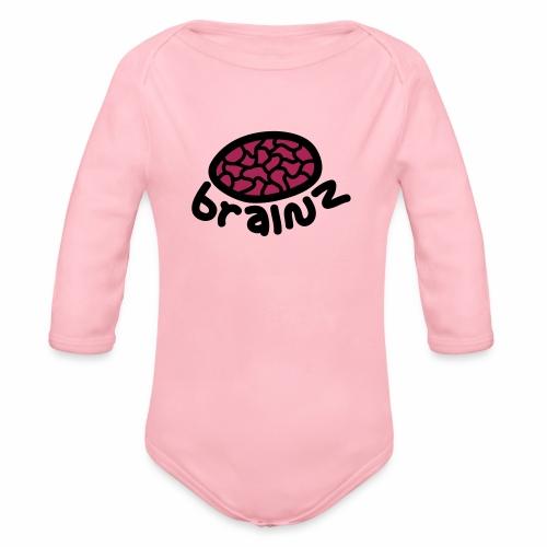 Brainz! - Organic Longsleeve Baby Bodysuit