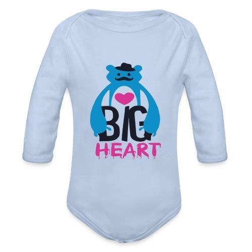 Big Heart Monster Hugs - Organic Longsleeve Baby Bodysuit
