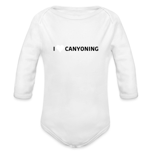 I Love Canyoning - Baby Bio-Langarm-Body