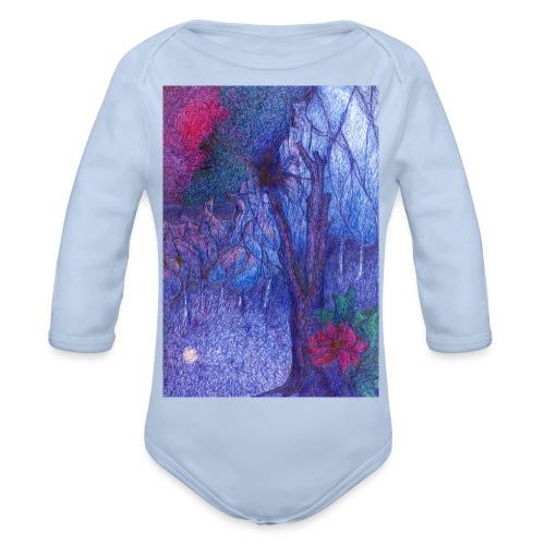 Forest Flower - Ekologiczne body niemowlęce z długim rękawem
